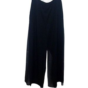 ELL JAY  Collections Black Overlay Palazzo Pants 4